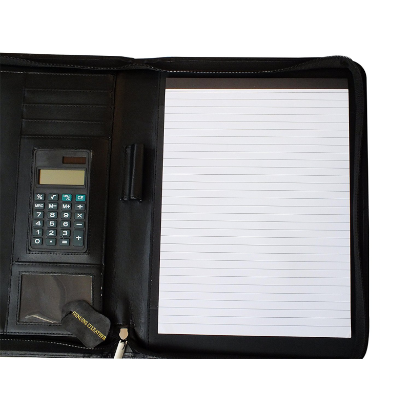 A4 Conference Portfolio Folder Case With Calculator Zipped
