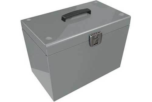lockable a4 metal file box filing storage inc 5 free. Black Bedroom Furniture Sets. Home Design Ideas
